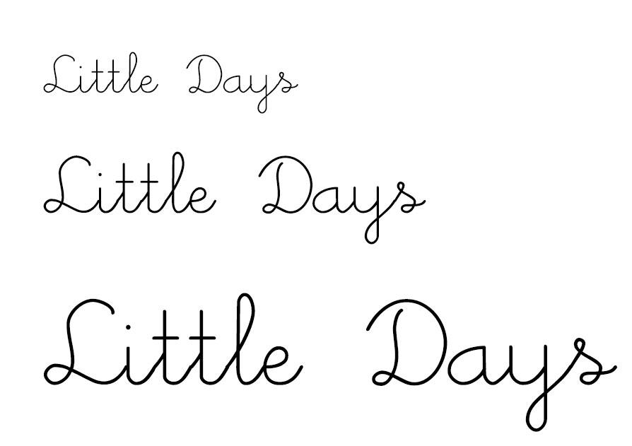 Little Days Script Font