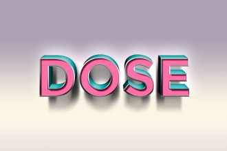 Dose Text Effect PSD