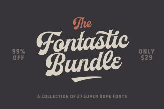 The Fontastic Bundle: 27 Fantastic Fonts – 99% Off
