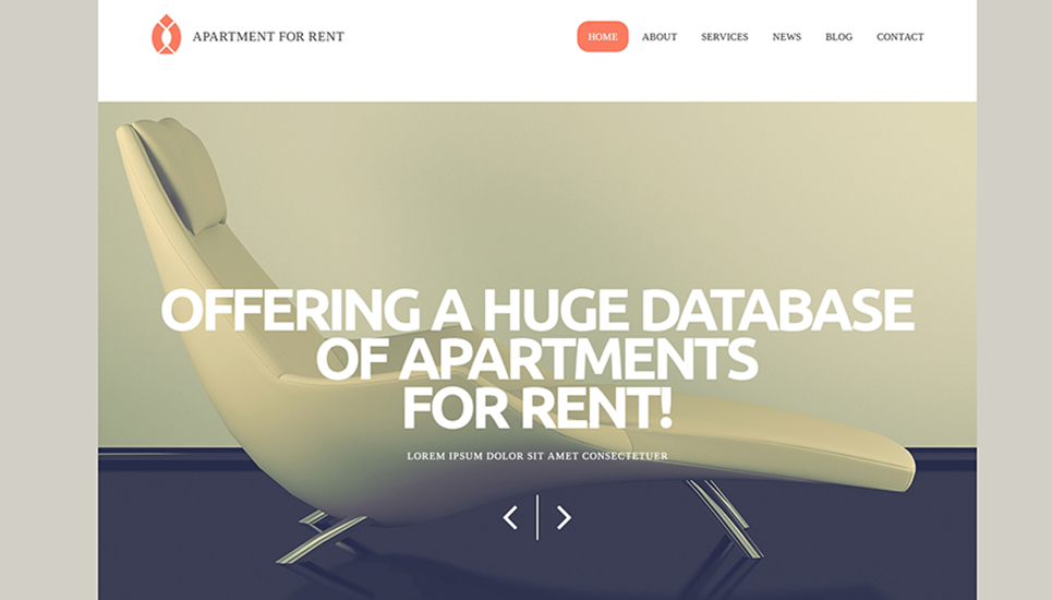 Rental Services WordPress Theme