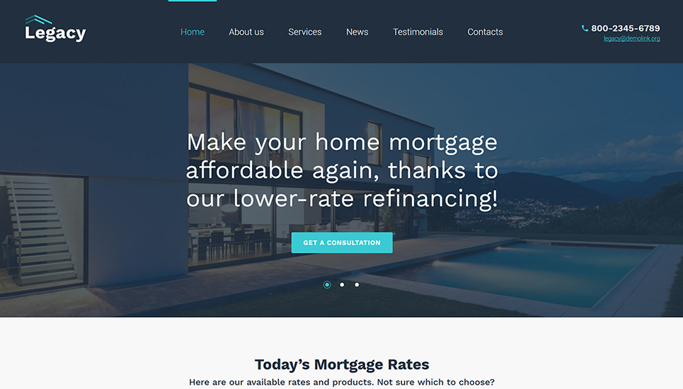 Legacy - Estate and Mortgage WordPress Theme
