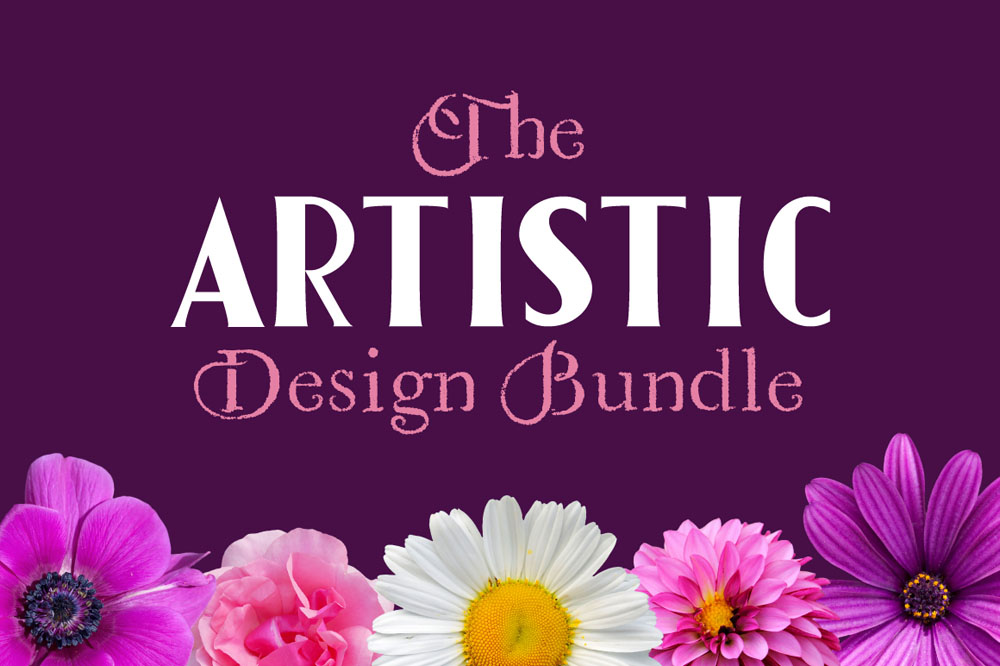 The Artistic Design Bundle: 60 Fonts and 2377 Graphics