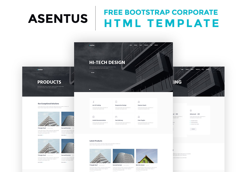 asentus free bootstrap corporate html template graphicsfuel. Black Bedroom Furniture Sets. Home Design Ideas