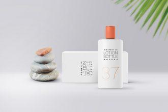 Cosmetic Lotion Bottle Mockup