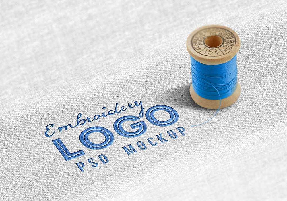 Fabric Embroidered Logo Mockup Graphicsfuel