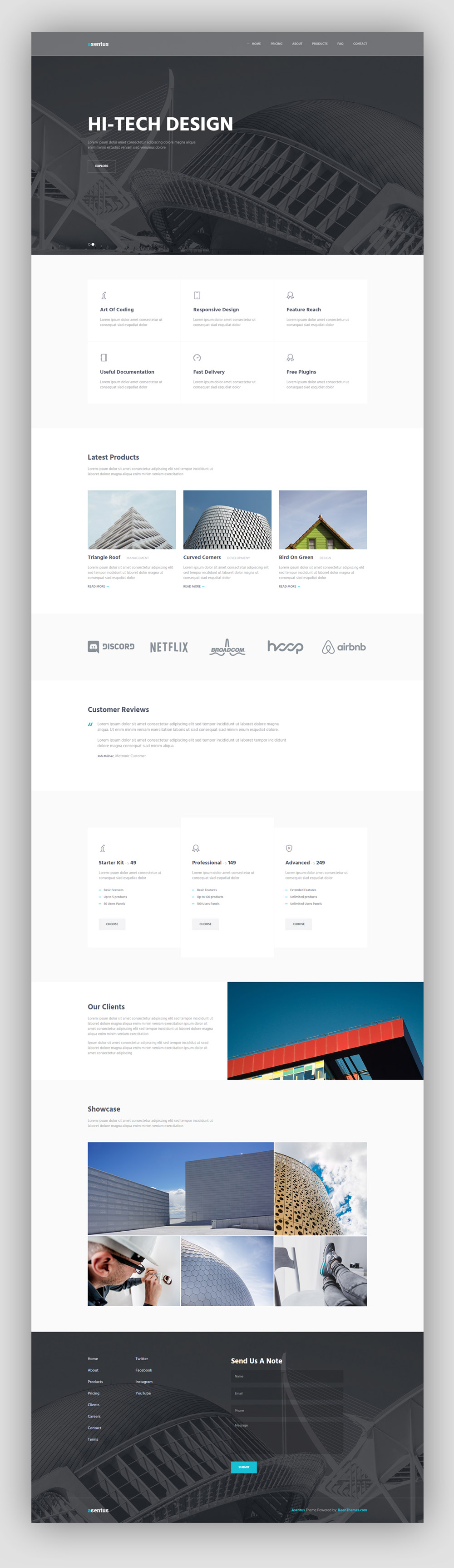 Asentus free bootstrap corporate html template graphicsfuel for Free bootstrap templates 2016