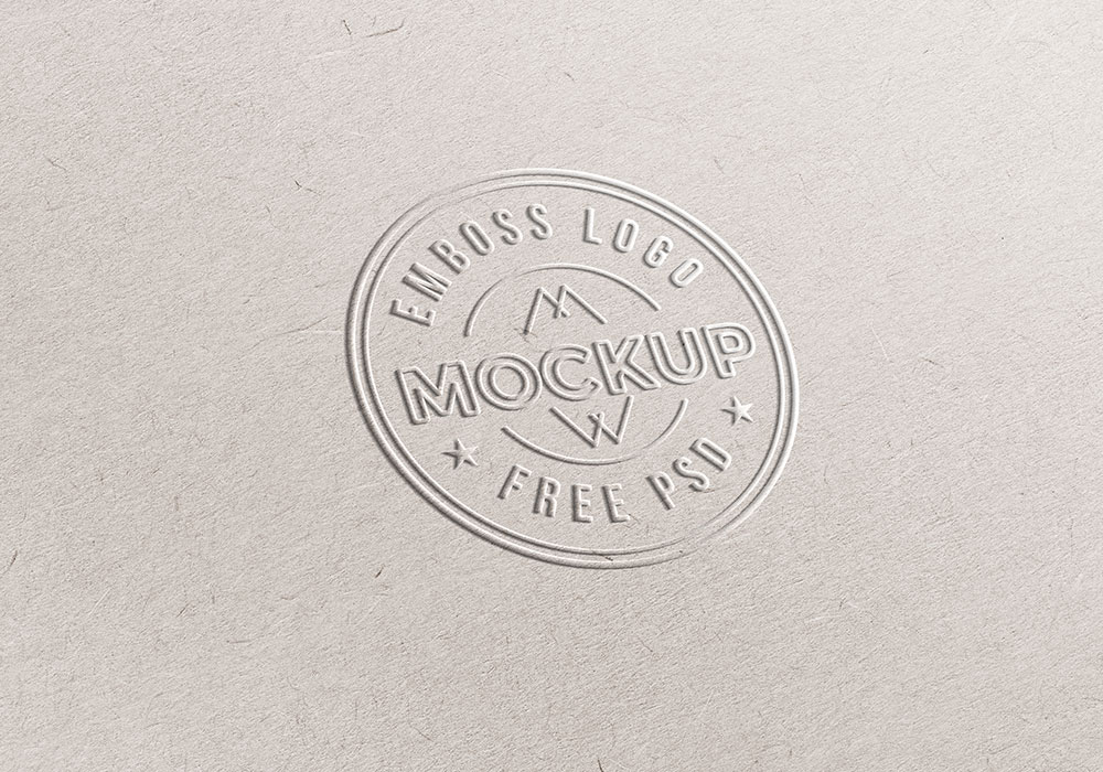 Emboss Paper Logo Mockup PSD - GraphicsFuel
