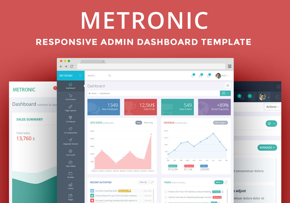 Metronic – The Best Admin Dashboard Template Available - GraphicsFuel