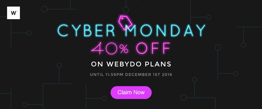 Webydo Cyber Monday Deals