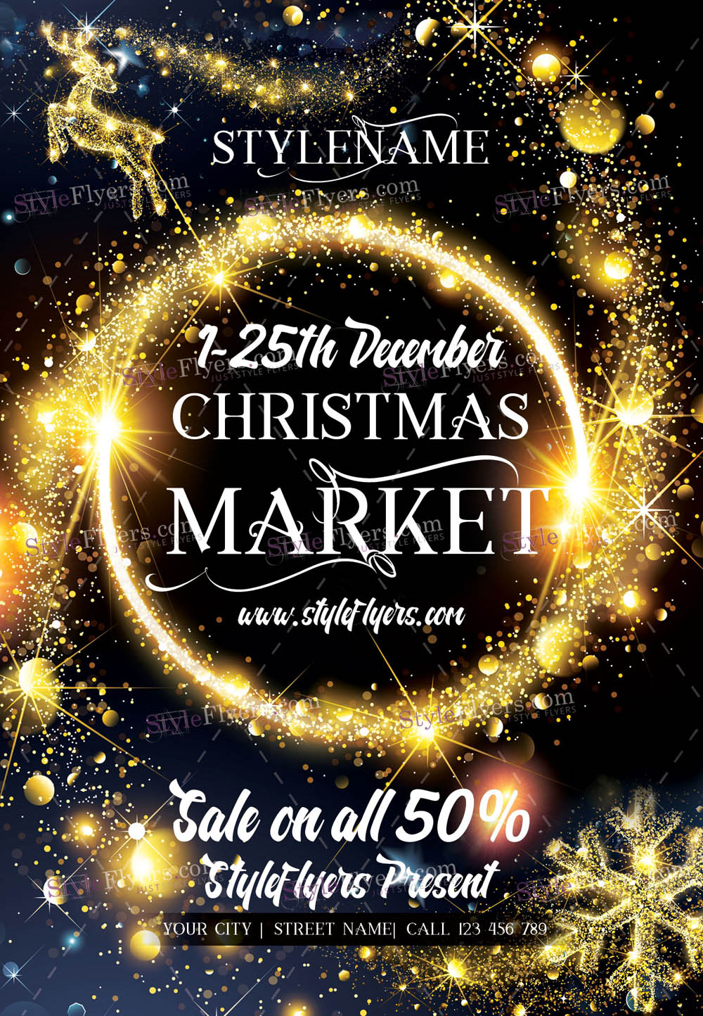Christmas Market PSD Flyer