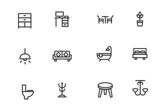 Home Decor & Furniture Icons