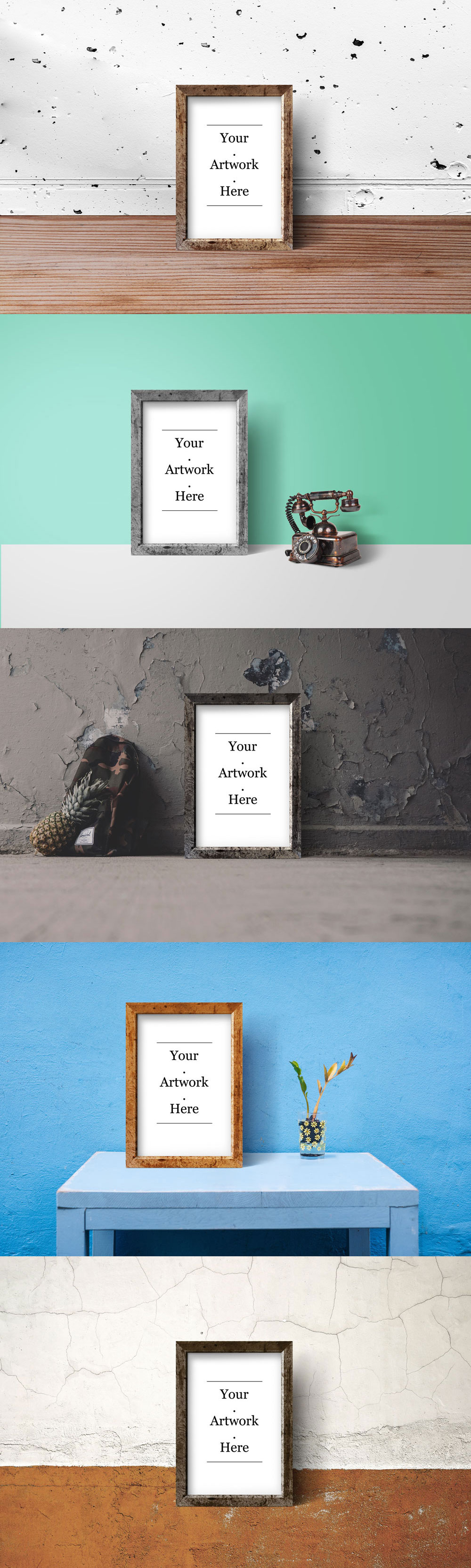 Rustic Photo Frame PSD Mockups