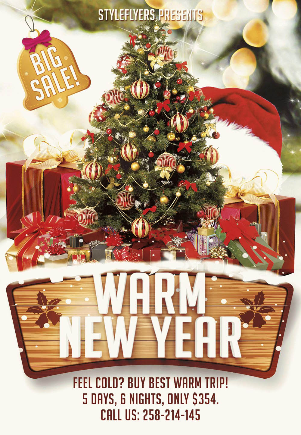 Warm New Year Flyer Template