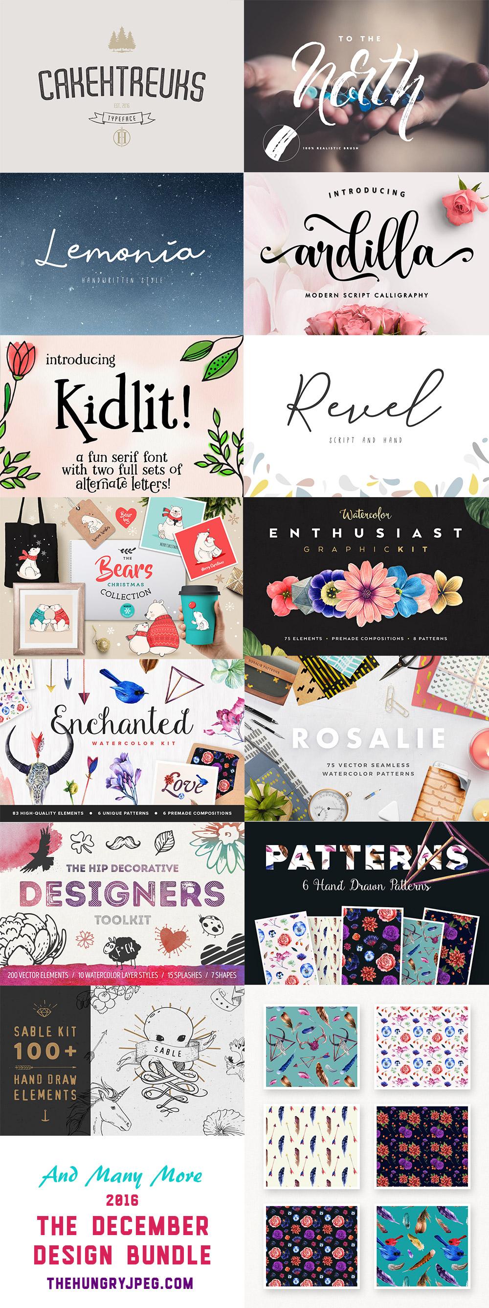 December Fonts Design Bundle