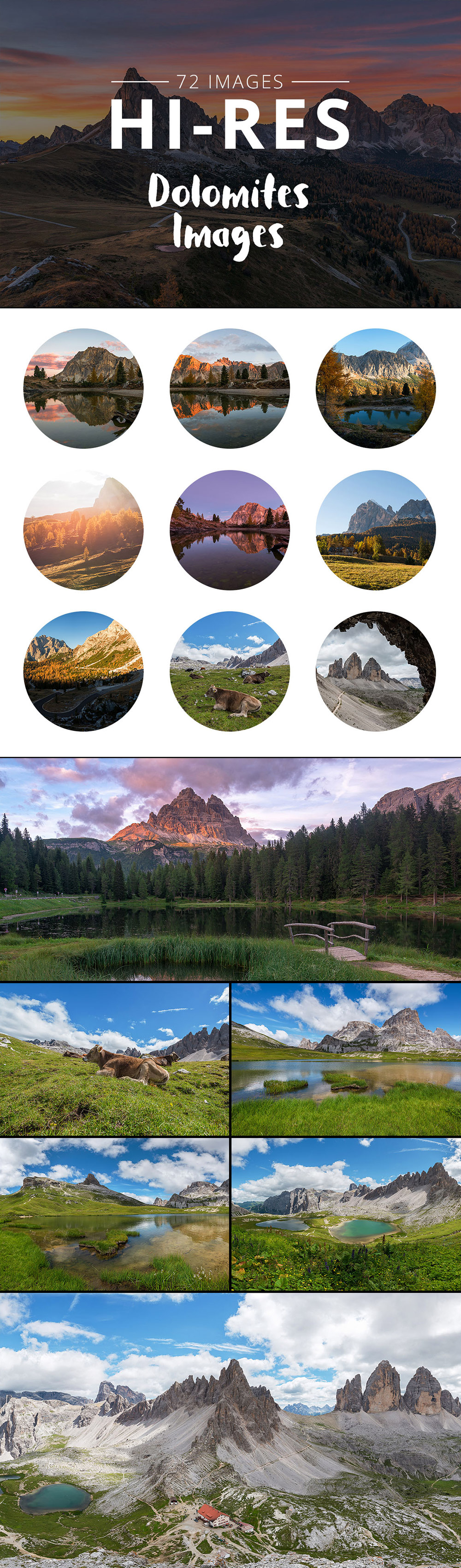Photos Bundle Dolomites
