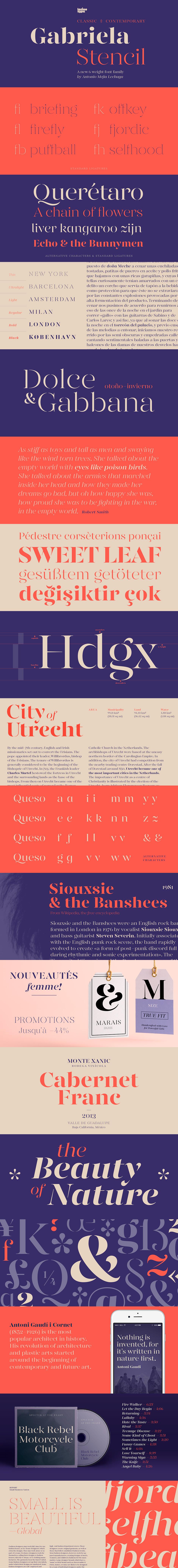 Definitive Fonts Bundle Gabriel Stencil