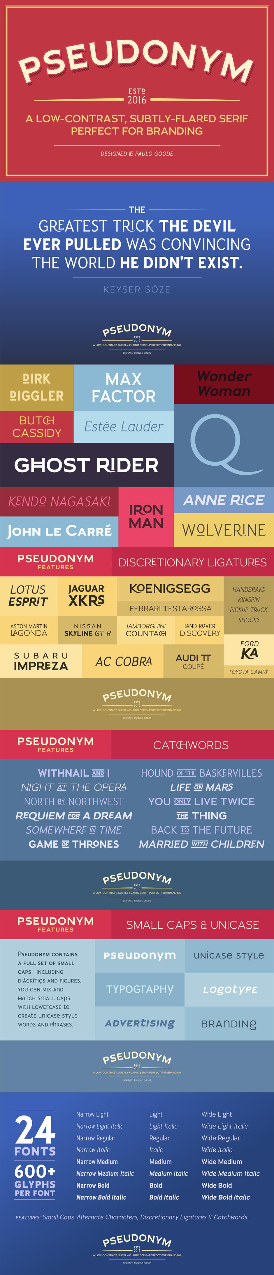 Definitive Fonts Bundle Pseudonym