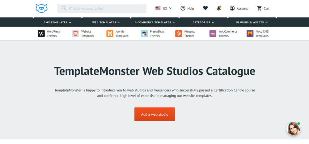 TemplateMonster Studios Catalog