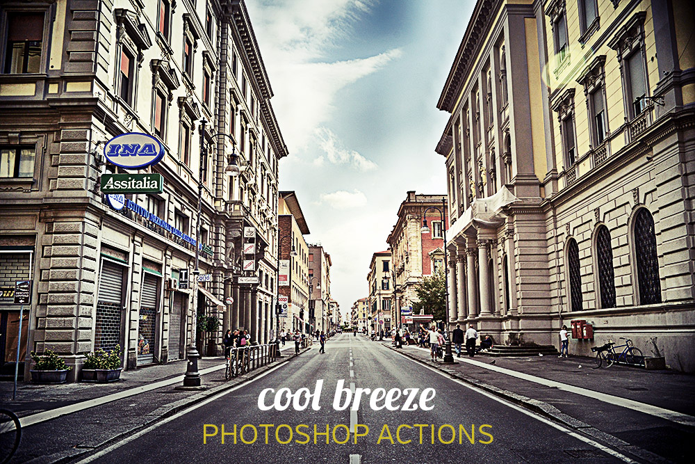 Cool Breeze: 4 Free Photoshop Actions
