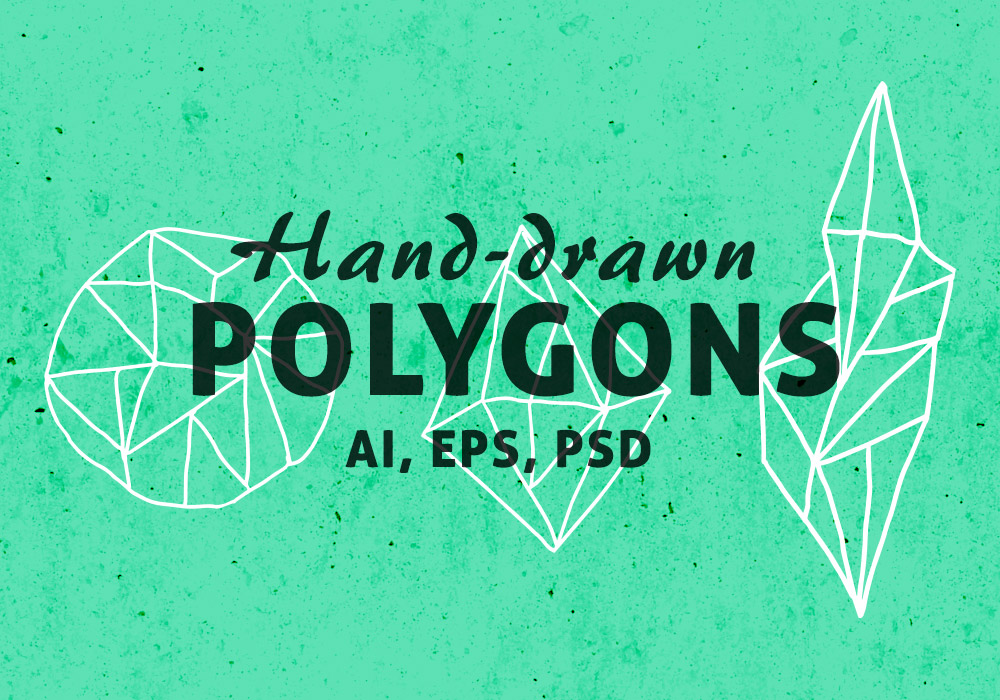 Free Hand-drawn Vector Geometric Polygons