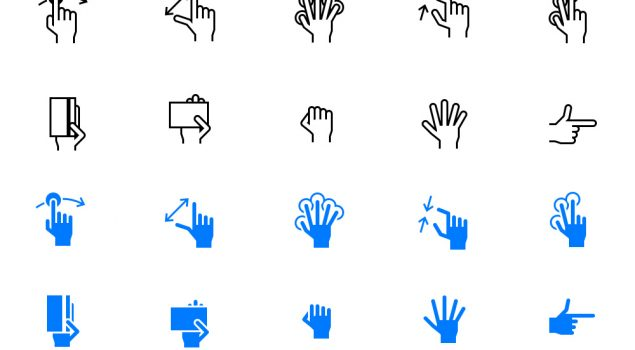Free Hand Gestures iOS Tab Bar Icons