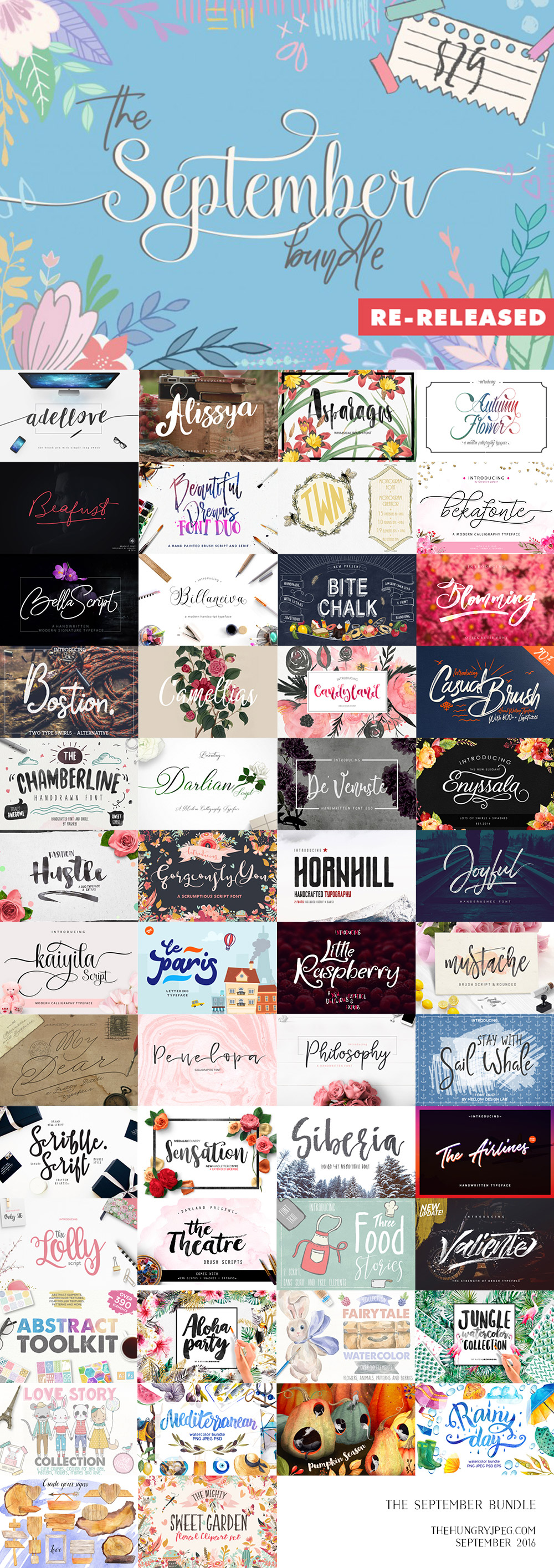 The September Fonts & Graphics Bundle