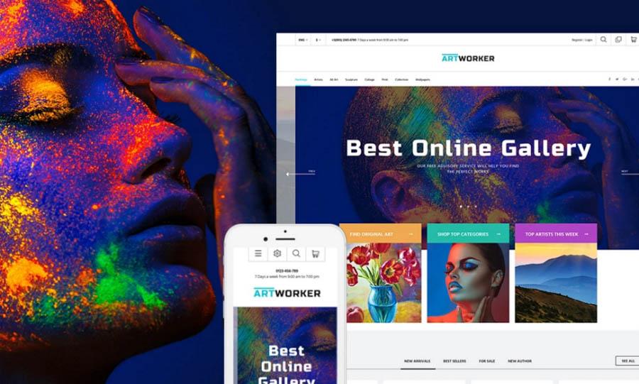 Online Art Gallery Presta Theme