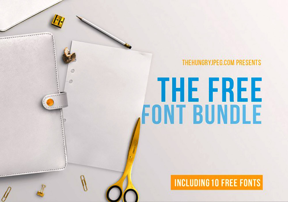 The FREE March Fonts Bundle