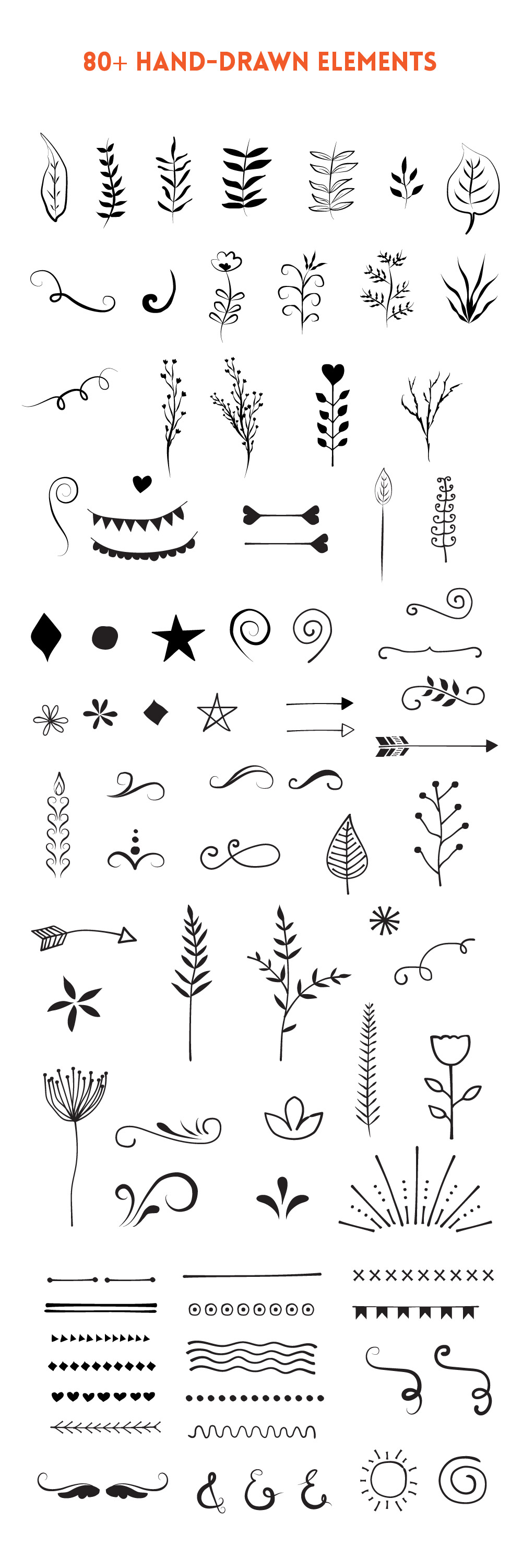 Handdrawn Vector Elements