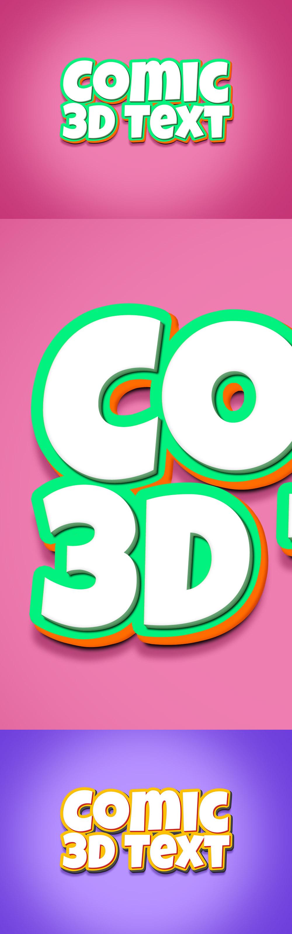 3D Comic Text Effect