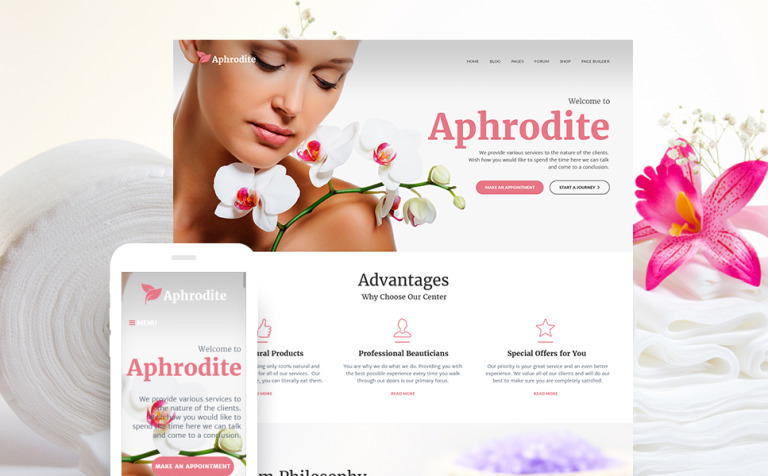 Beauty Spa Salon Responsive WP Theme