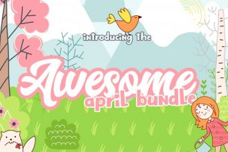 The April Fonts & Design Bundle