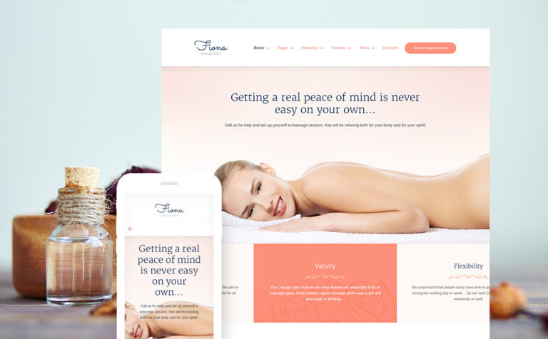 Beauty & Spa Massage WordPress Theme
