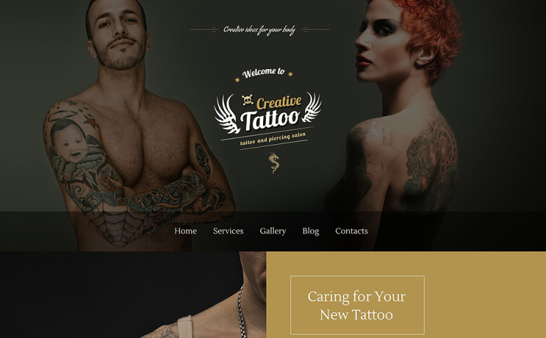 Creative Tattoo WordPress Theme