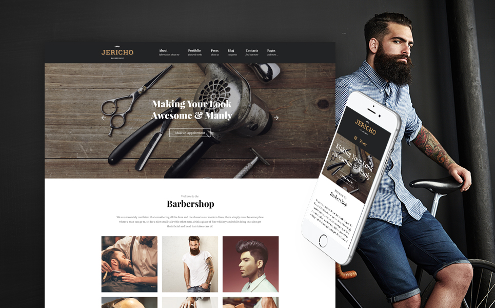 Barber Shop Modern WordPress Theme