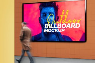 Outdoor Billboard Advertising Mockup PSD