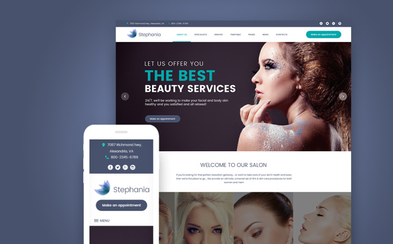 Beauty Salon Skin Care WordPress Theme