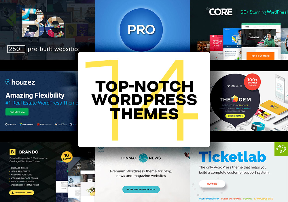 14 Top Notch Multipurpose WordPress Themes To Buy