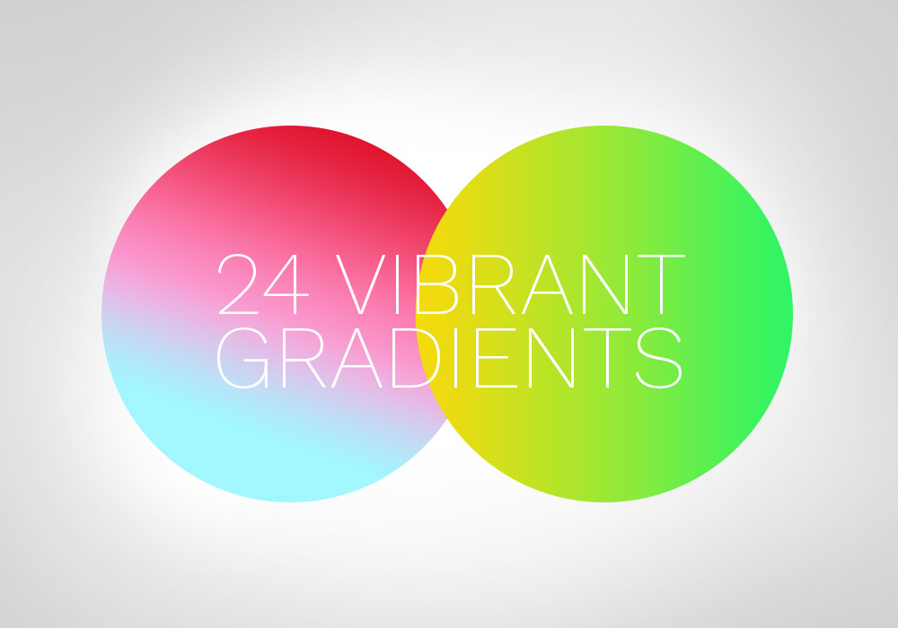 24 Vibrant Gradients For Photoshop