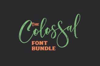 The Colossal Font Bundle: 27 High-Quality Fonts