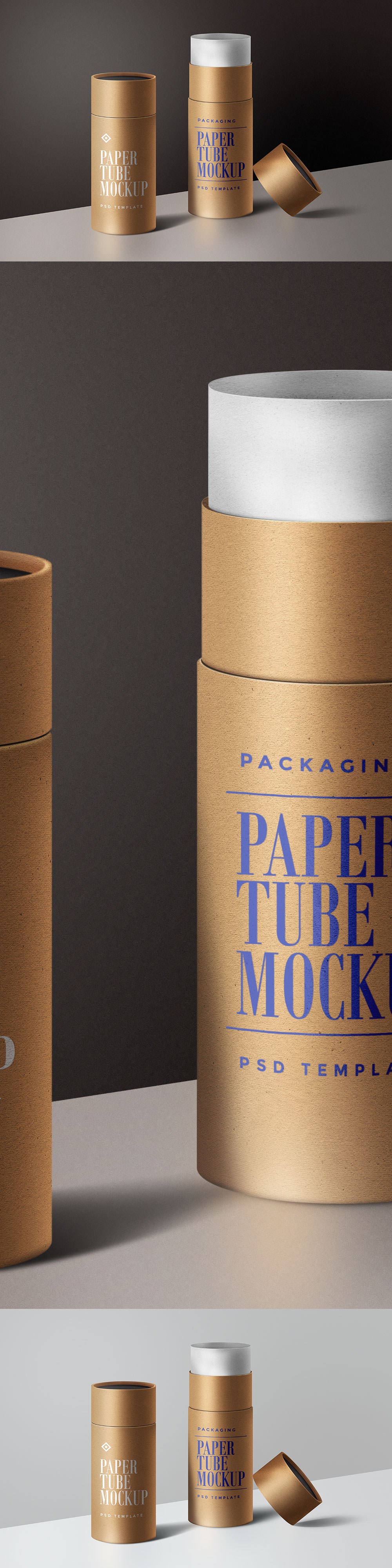 Paper Tube Packaging Mockup