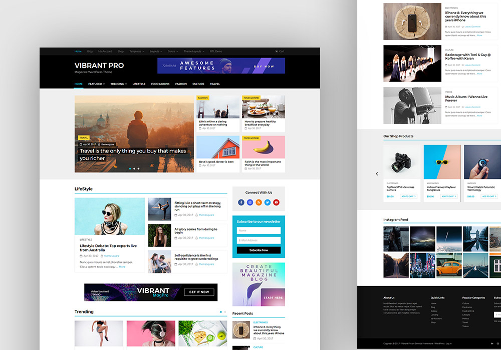 Vibrant Pro: Magazine WordPress Theme