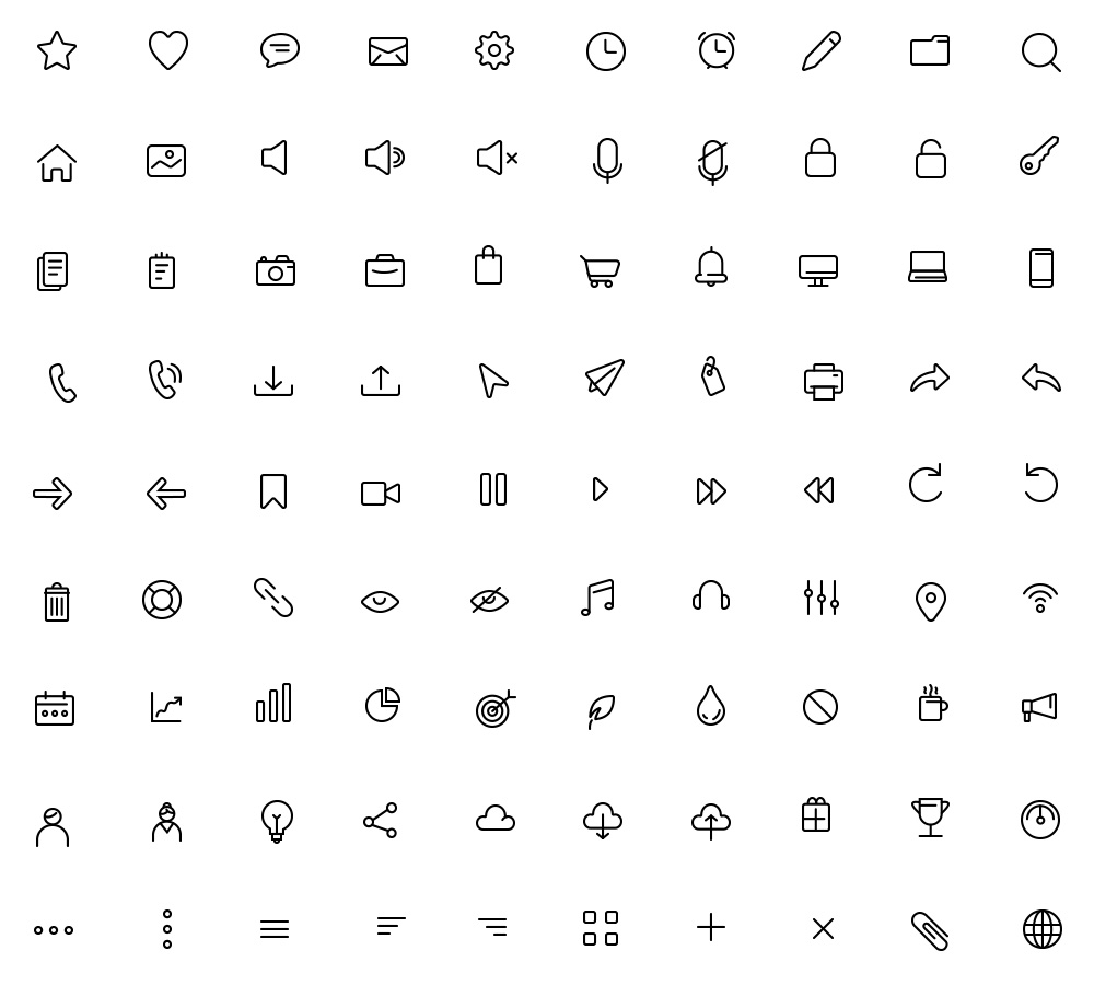 Free 90 Daily Essential Icons