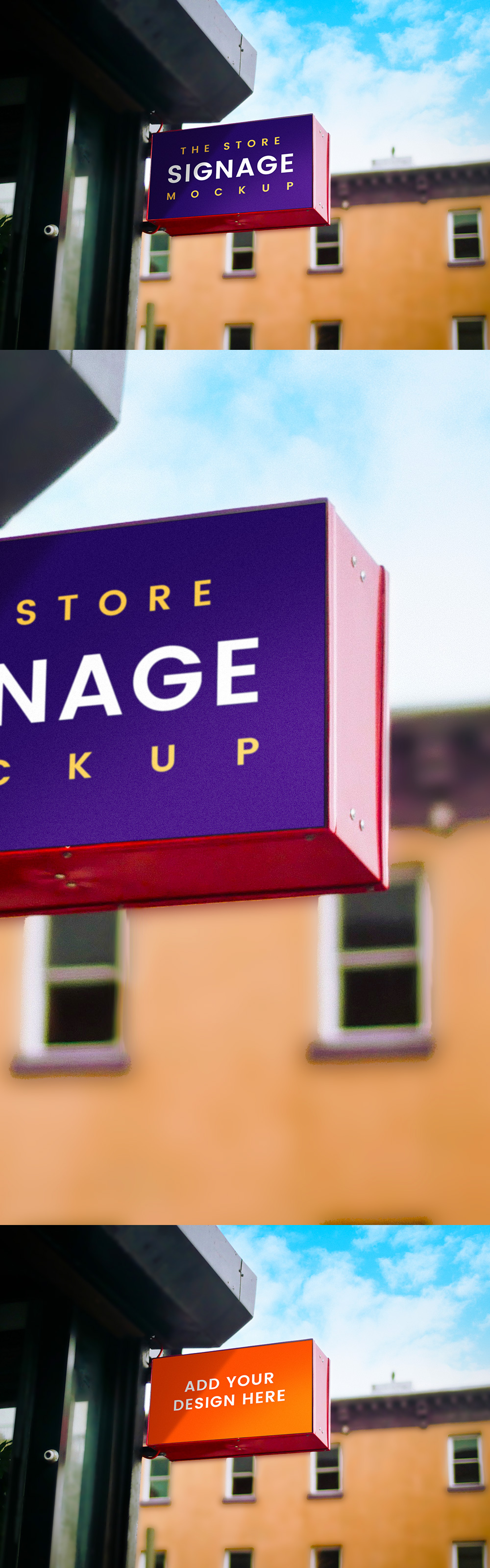 Outdoor Store Signage Mockup
