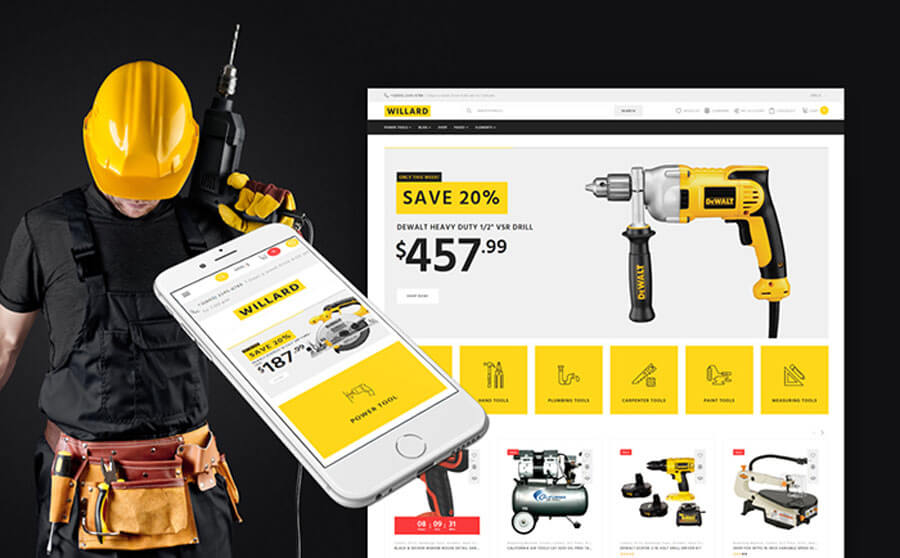 Bright Tools & Instruments WooCommerce Template