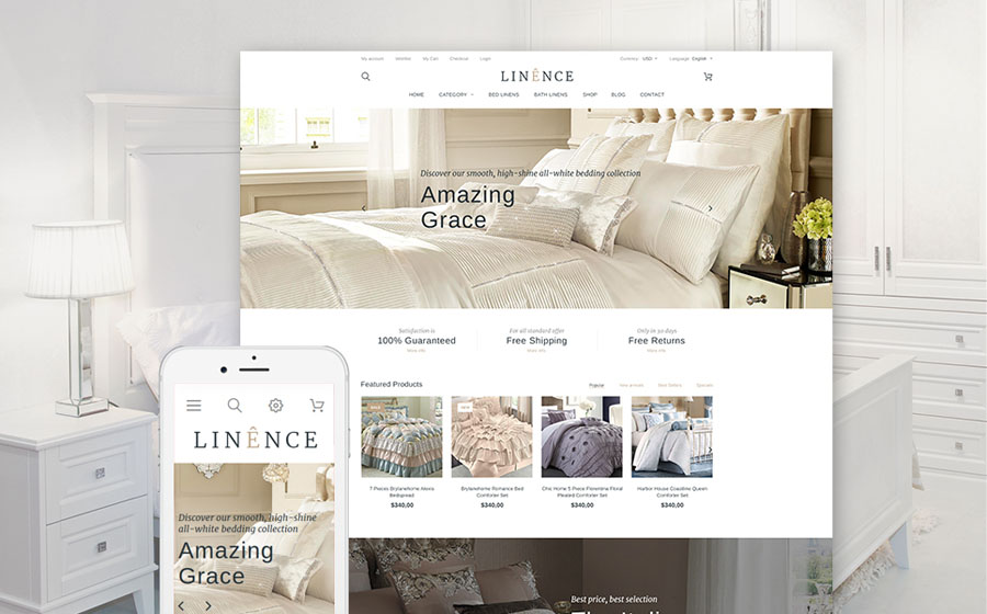 Bed Linen PrestaShop Theme