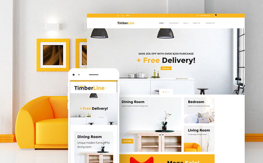 25 e commerce templates for best converting online shops graphicsfuel. Black Bedroom Furniture Sets. Home Design Ideas