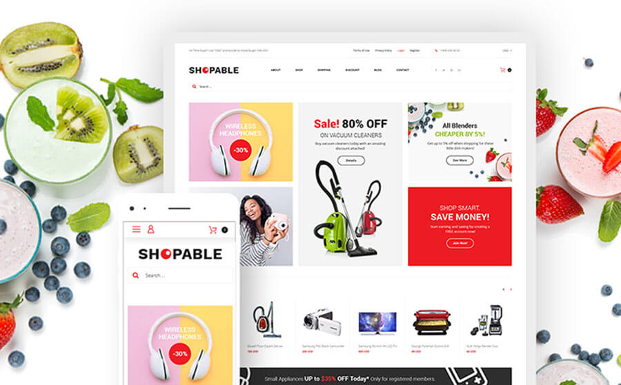 Simple Multifunctional Online Store WooCommerce Theme