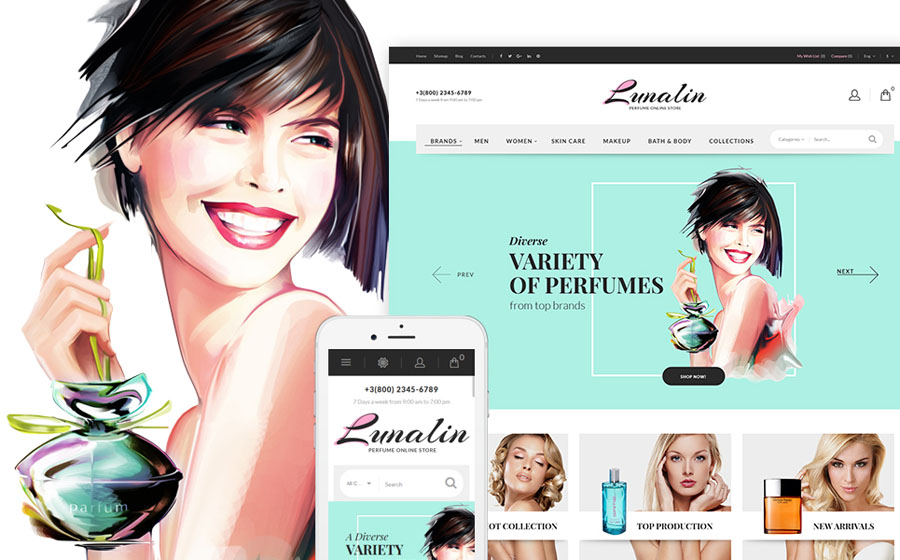Beauty Products PrestaShop Theme