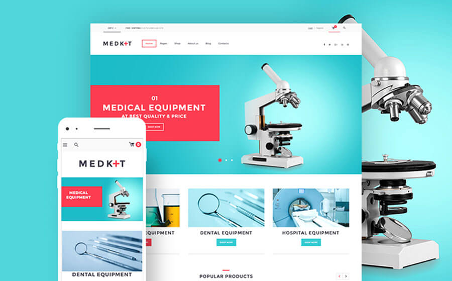 High-Quality Medical Devices WooCommerce Theme